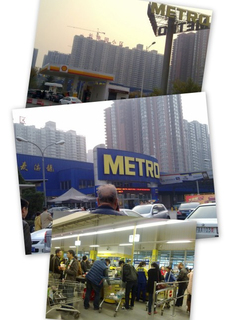 metro supermarket, xi'an, shell gas station