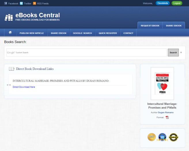 Begitu pembayaran lewat paypal Cina sukses, baru deh keluar halaman siap download kayak gini. Dalam hitungan detik format PDF buku incaran saya sudah masuk komputer. Yay!