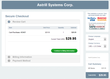 astrillstep with paypal 1